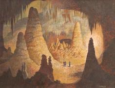 "John Atherton 1950 painting entitled ""The Cavern""."