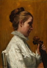 """""""A Musician"""" by Frederick E. Wright."""