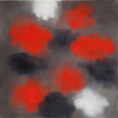 BRINTZ GALLERY, ROSS BLECKNER, Untitled, 2016, Oil on linen, 18 by 18 inches, Flora, Unique Art
