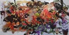 Petra  Cortright www.COIFFURE.FR YRTYYUGFGHJ KJKLJJKKLJ, 2018 Digital painting on Anodized Aluminum