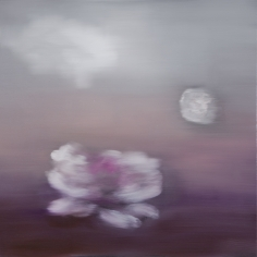BRINTZ GALLERY, ROSS BLECKNER, Untitled (Black Monet Series), 2018, Oil on canvas, 30 by 30 inches, Flora, Unique Art