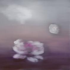 Ross Bleckner Untitled (Black Monet Series), 2018 Oil on canvas