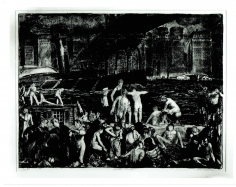 GEORGE BELLOWS (1882-1925)  Splinter Beach, 1916  Lithograph