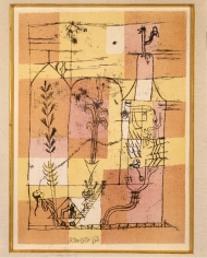 PAUL KLEE  (1879-1940)  Hoffmanneske Szene, 1921  Scene from the Tales of Hoffmann, 1921  Color lithograph