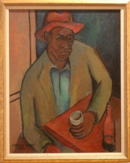 Norman Lewis (1900-1979) Untitled (Seated Male) 1945 oil on canvas