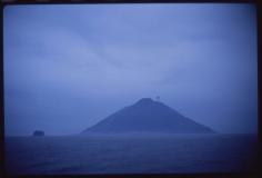 Volcano at dawn, Stromboli, Italy