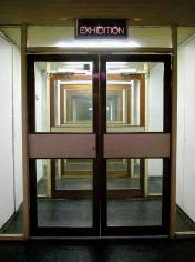Jammed 2003 doors, glass, neon light