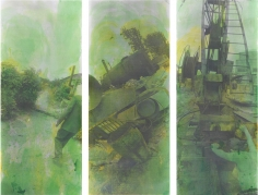 from the series 'Green' (triptych)