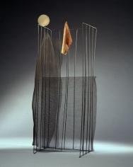La rivoluzione dogmatica,1969, brass, wire mesh, painted fabric