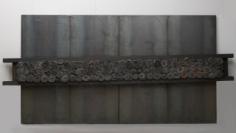 Untitled, 1998 iron panels, lead, cloth