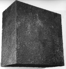 1 mc di terra, 1967, soil on wooden structure
