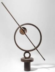 Meridiana (cerchio con sbarra e valvola), 1966, new and recovered iron