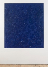 Giovanni Anselmo Ultramarine Blue while it appears towards overseas, 2012