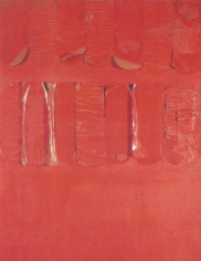 Rosso 21, 1960, acrylic and paper on canvas
