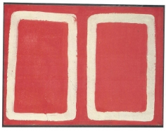 A Raffaele, 1960, acrylic and paper on canvas