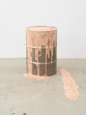 Hwangyeong, 2018 stainless steel barrel, acrylic gel, acrylic paint