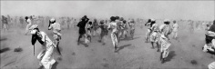 Raghu Rai Dust Storm Created by a VIP Helicopter, Rajasthan 1975 Digital print on archival paper 20 x 62 in.