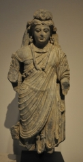 Bodhisattva Ancient Region of Gandhara, Kushan Period 2nd/3rd Century Schist Height: 20 in.