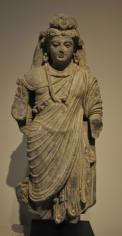 Bodhisattva Ancient Region of Gandhara, Kushan Period 2nd/3rd Century Schist Height: 20 in.