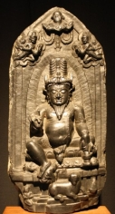 Pala Agni Bangladesh Black chlorite 10th/11th Century 20 in.
