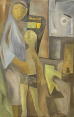 Ram Kumar Mother 1957 Oil on canvas 32.5 x 20.5 in.  NOT FOR SALE