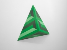 Seher Naveed  Tip 3 (Green), 2021  Painted MDF  55 x 45 in