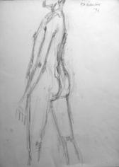 Akbar Padamsee NUDE 4 1994 Pencil on paper 15 x 11 in.