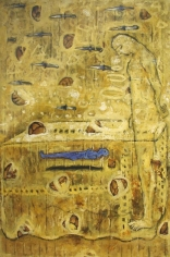 G.R. Iranna UNTITLED - YELLOW 1997 Oil on canvas 70 x 48 in.