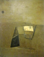 Ram Kumar UNTITLED ABSTRACT 1962 Oil on canvas 45 x 33 in.