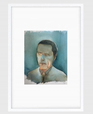 Sujith S.N.  Untitled (Portrait) 2, 2020  Watercolor on paper  6h x 6.50w in
