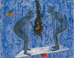 G. R. Iranna, Balancing Act, 1996, Mixed media on canvas, 54 x 66 in