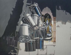 Subodh Gupta UNTITLED 2005 Oil on canvas 75 x 102 in.  NFS
