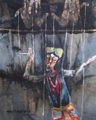 Shyamal Dutta Ray THE DREAMER 1989 Watercolour on paper 24 x 19.5 in.