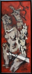 M.F Husain Draupadi 1971 Oil on canvas 55 x 23 in.