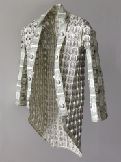 Abdullah M. I. Syed, Capital Couture: George Washington's Coat, 2019, Hand-folded uncirculated U.S. $1 bills and staple pins