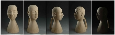 Mayyur Gupta FOR YOU 2007 Wood 21 x 12 x 14 in. (Multiple views of the same sculpture )