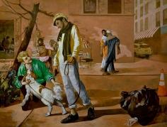 Salman Toor, Eleventh Street, 2018, Oil on canvas, 51 x 67 in