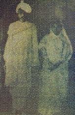 Vivek Vilasini THROUGH THE LOOKING GLASS (GANDHI AND KASTURBA) Edition of 5 + 1AP 2007 Archival print on hahnemuhle photo rag fine art paper 60 x 40 in.