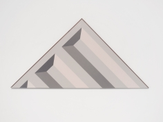 Seher Naveed  Tip (Gray), 2021  Painted MDF  30 x 60 in