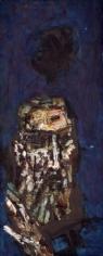 M.F. Husain SELF PORTRAIT 1960s Oil on canvas 30 x 12 in.  SOLD