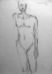 Akbar Padamsee NUDE 3 1994 Pencil on a paper 15 x 11 in.