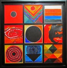 S. M. H. Raza  Festival, 2012-2013  Acrylic on canvas  48 x 48 in