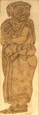T. Vaikuntam UNTITLED (STANDING WOMAN I) Pencil on paper 7 x 2.5 in.