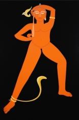 Rekha Rodwittiya Rekha @ 50 (Orange) 2008 Acrylic and oil on canvas 72 x 48 in.