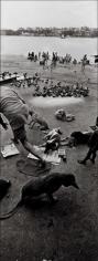 Raghu Rai FEEDING PIGEONS, HOOGLY, KOLKATA 2005 Digital scan of photographic negative on archival paper 54 x 20 in.