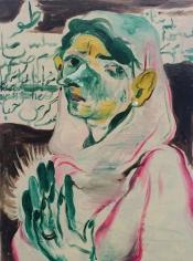 Salman Toor, Mother, 2015, Oil on board, 12 x 9 x 1 in