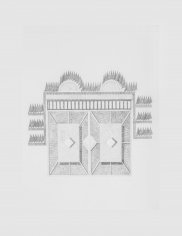 Seher Naveed  Contraption 2, 2021  Graphite on paper  15.75 x 11.75 in