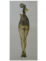 Avishek Sen, Legs & Fish, 2013, Watercolor on paper, 12 x 6 in