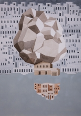 Gigi Scaria  Meteor, 2017  Watercolor on paper  40.50 x 28.50 in
