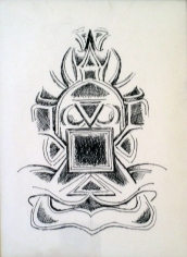 G.R. Santosh DRAWING 3 Ink on paper 9.5 x 7 in.